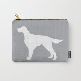 Irish Setter dog silhouette minimal dog breed portrait gifts for dog lover Carry-All Pouch
