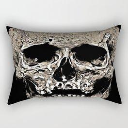 Full Skull With Rotting Flesh Vector Rectangular Pillow