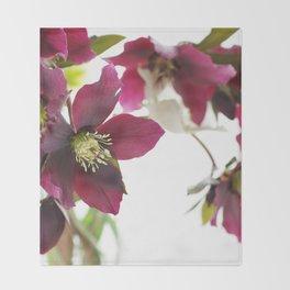 Flower impression Throw Blanket