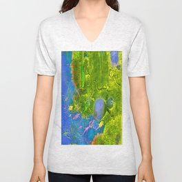 Mysterious animals of water  Unisex V-Neck