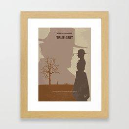 No860 My True grit minimal movie poster Framed Art Print