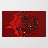 werewolf Area & Throw Rugs featuring Werewolf by Kivapo