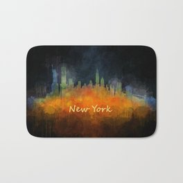 New York City Skyline Hq V04 Bath Mat
