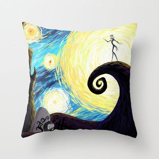 Starry Nightmare Throw Pillow