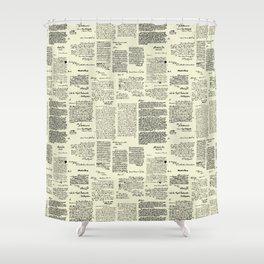 George Washington's Letters // Parchment Shower Curtain