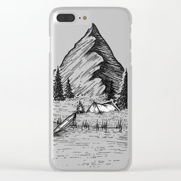 Camping Island Clear iPhone Case