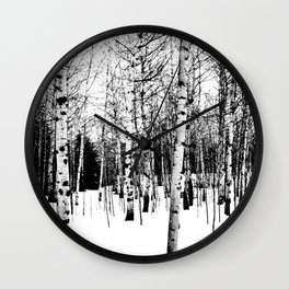 WhiteTrees Wall Clock