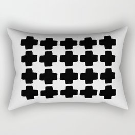 Black and White Abstract III Rectangular Pillow