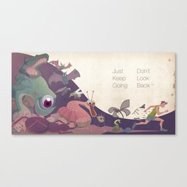 Just keep going Canvas Print