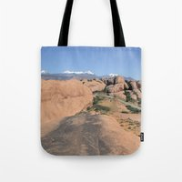 utah Tote Bags featuring Moab Utah by BACK to THE ROOTS