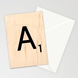 Letter A Scrabble Art Stationery Cards