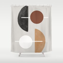 Moon and Sun Abstract Shower Curtain