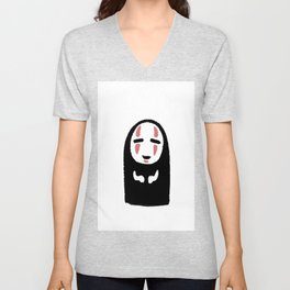 No Face Unisex V-Neck