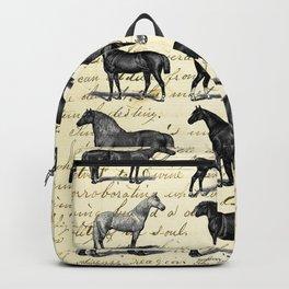 1895 Vintage Horse study Backpack