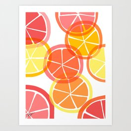 Sumemr Citruses Art Print