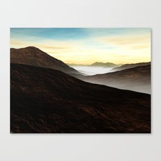 Foggy Mountains Canvas Print