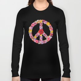 Peace Flower Sign Long Sleeve T-shirt