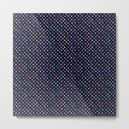 Retro Colored Dots Material Metal Print