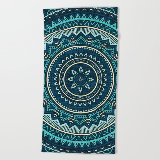 Hippie Mandala 16 Beach Towel