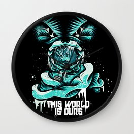 This World is ours Wall Clock