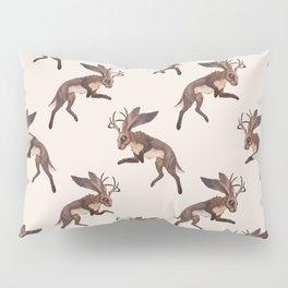 Brown Jackalope Pillow Sham