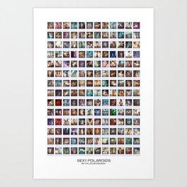 168 Sexy Polaroids Art Print