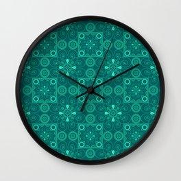 Retro .Vintage . Turquoise openwork ornament . Wall Clock