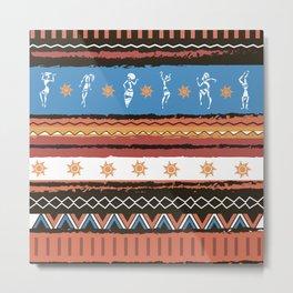 African Tribal Pattern No. 68 Metal Print