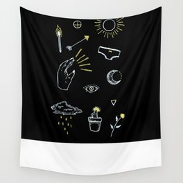 Black and Gold Wall Tapestry