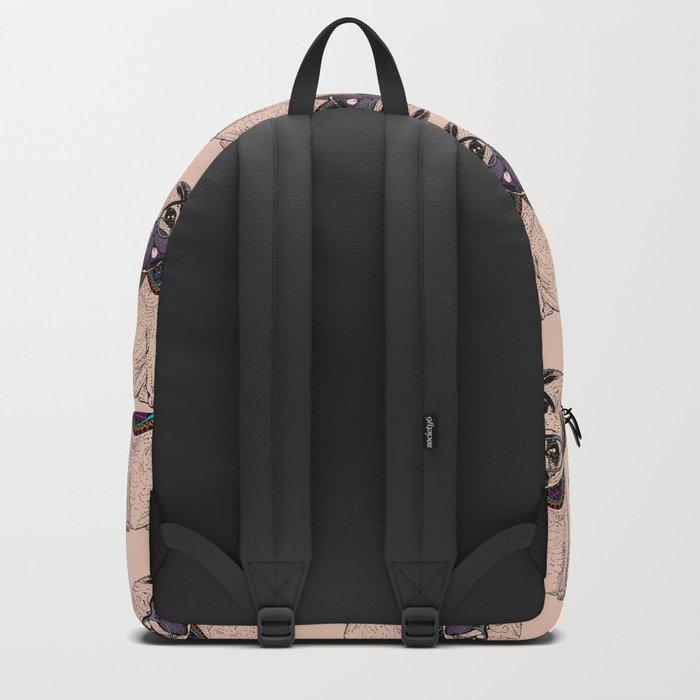 Hipster Pug Backpack