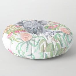 Home Among the Gum leaves Floor Pillow