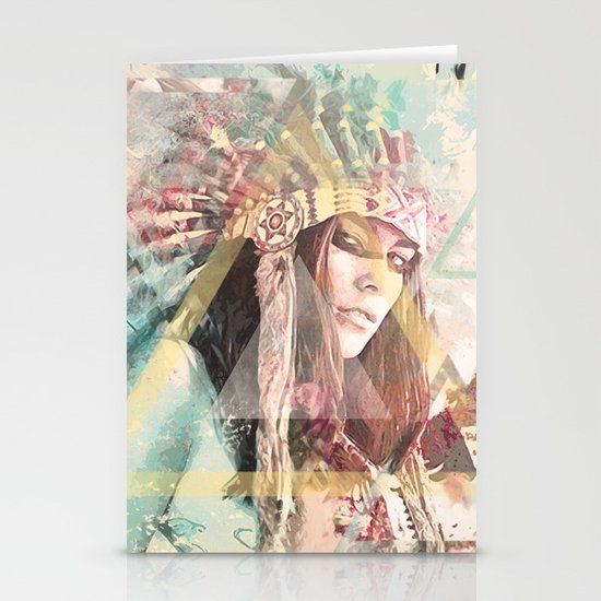 IND Girl Stationery Cards