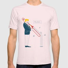 Trombonist Light Pink Mens Fitted Tee LARGE