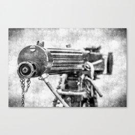 Vickers Machine Gun Vintage Canvas Print