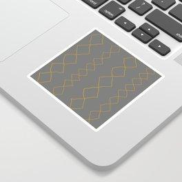 Moroccan Diamond Stripe in Grey Mustard Sticker