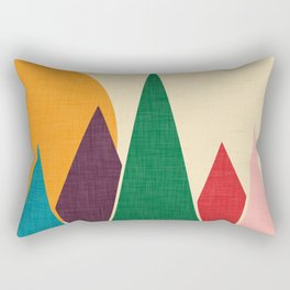 solar mountain #homedecor #midcentury Rectangular Pillow