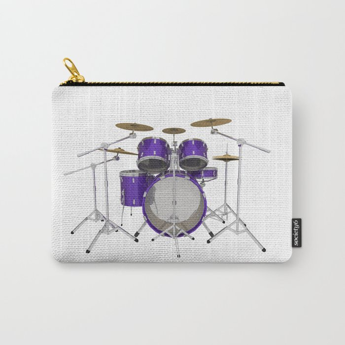 Purple Drum Kit Carry-All Pouch