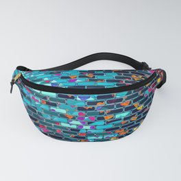 Colorful Abstract Brick Wall Fanny Pack