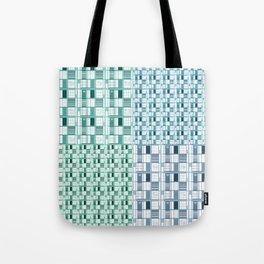 Sea-Cuadricula Tote Bag