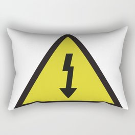 electric current danger signal Rectangular Pillow