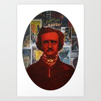 A Portait of Poe Art Print