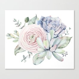 Succulent Blooms Canvas Print