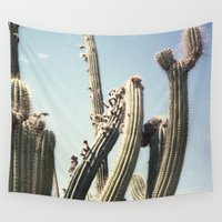 cactus Wall Tapestries featuring Cactus by Isabel Val