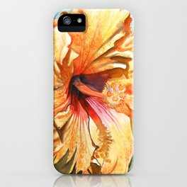Tropical Yellow Hibiscus iPhone Case