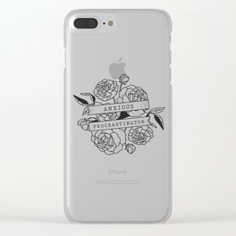 anxious procrastinator Clear iPhone Case