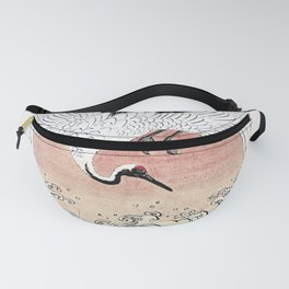 Crane and Wave Fanny Pack