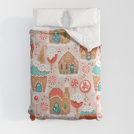 Gingerbread Candy Land on pink Comforters