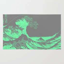 The Great Wave Green & Gray Rug
