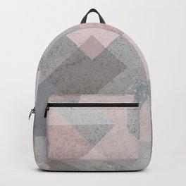 BLUSH GRAY AQUA GEOMETRICAL PATTERN Backpack
