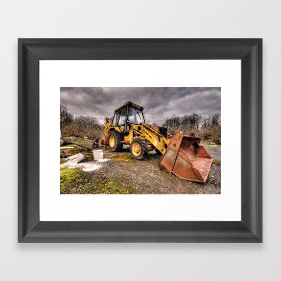 The Rusty DIgger Framed Art Print